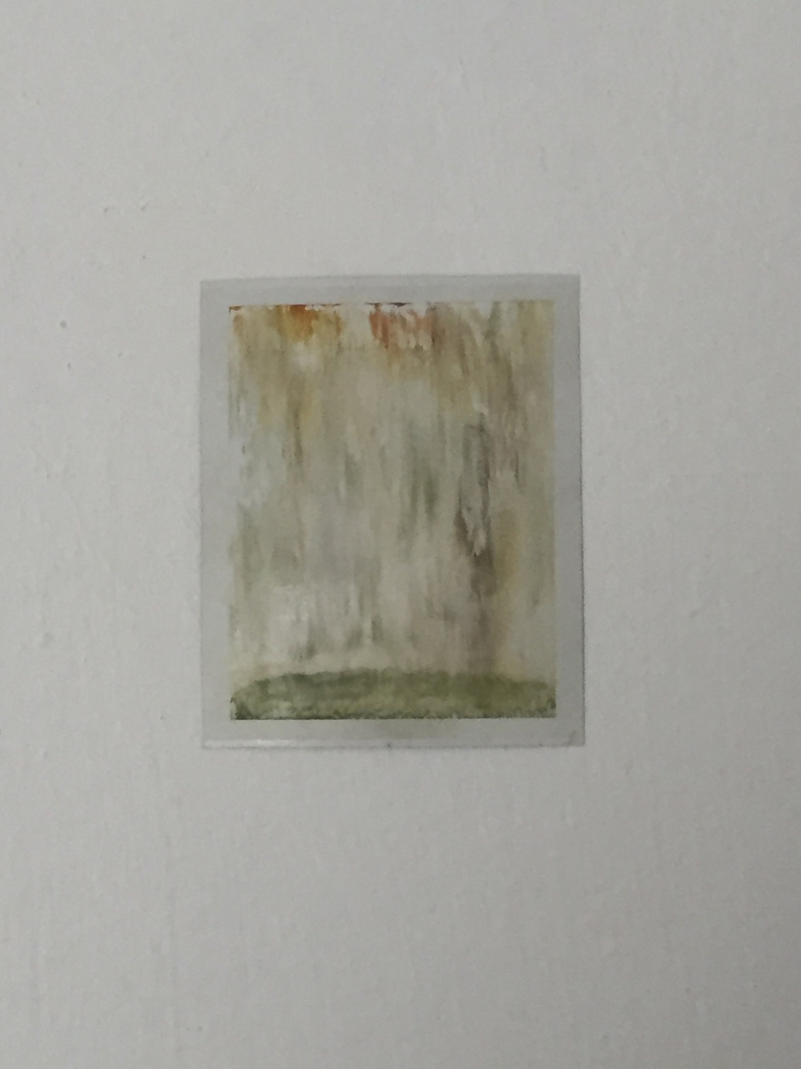 Combustion, 2013   Developing emulsion on photographic paper   10.5 x 8.5 cm