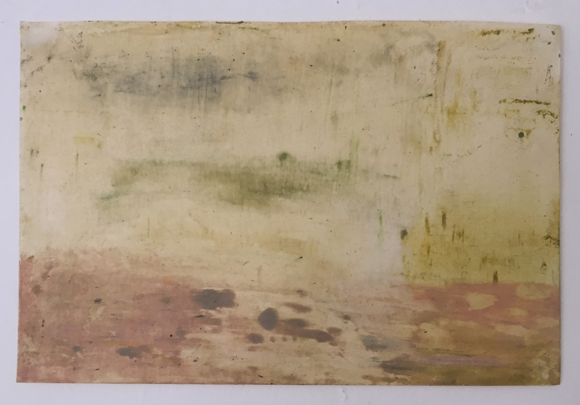 Swamp With Lillies, 2014   Oily cake on paper   21 x 30 cm