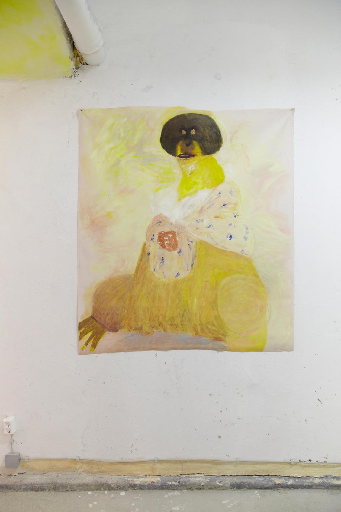 Matriarche, 134 x 154 cm, oil on canvas, 2018