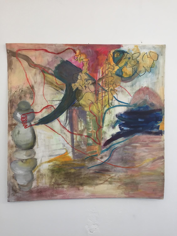 Nest, 2015 | Oil on canvas | 100 x 100cm
