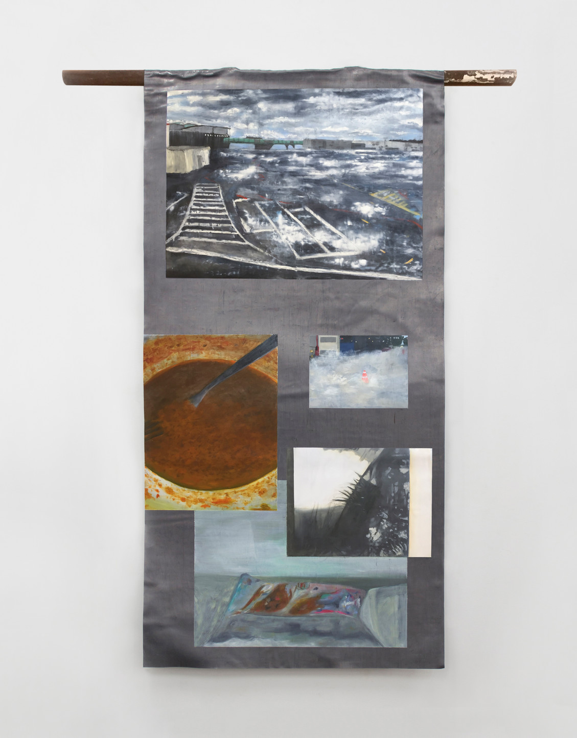 Layers, 2015 | Oil on lead | 138 x 68 cm
