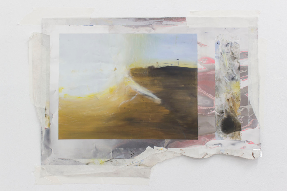 Solar Storm, 2015 | Crepe tape and oil on aluminum | 48 x 66 cm