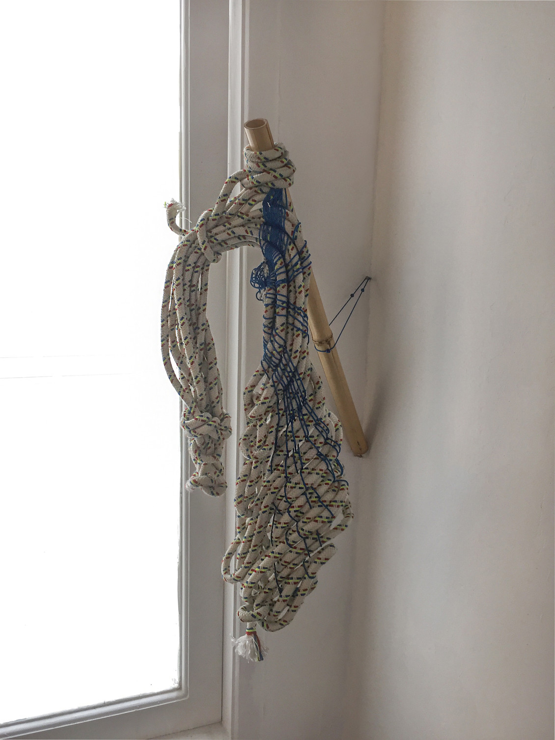 Swan, 2016 | Tapestry and Bamboo | 77 x 33 x 45 cm