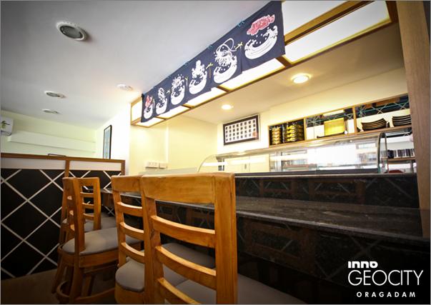赤坂レストランの寿司カウンター