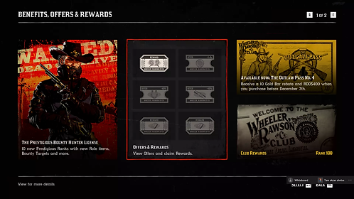 OutLaw #4 Pass 100 Level + 40 Gold Bars