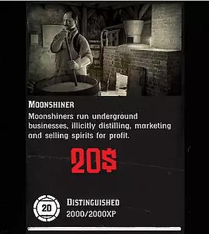 20 Level Moonshiner + 8.000$