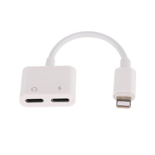Dual Lightning Audio & Charge Adapter