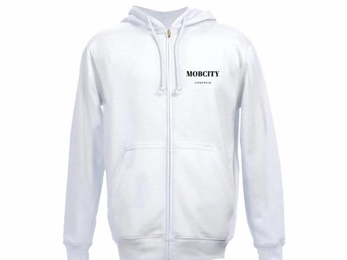 MOBCITY™ ZIP SWEATER WHITE
