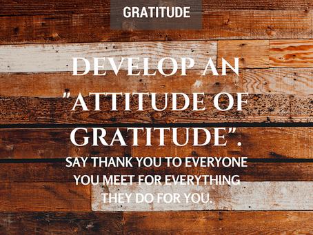 """Attitude of Gratitude"""