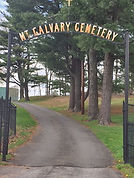 Entrance to Mt Calvary Cemetery