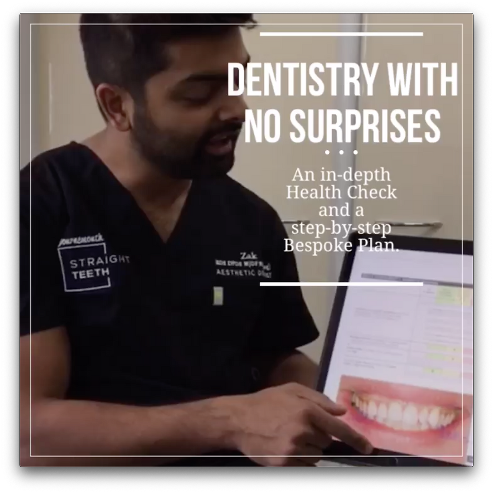 Dental Health Check plan planning before at home brace tooth straightening kit