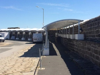 Work complete on Penzance passenger shelter