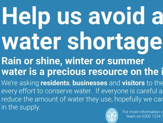 Residents and visitors reminded to save water