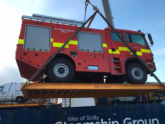 New airport fire engine arrives on Scilly