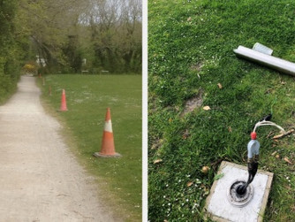 Bollard lights destroyed in 'serious act of vandalism'