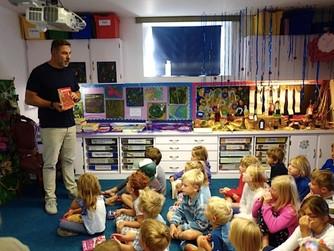 David Walliams visits Tresco & Bryher School