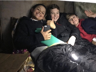 Pupils raise thousands with charity sleepout