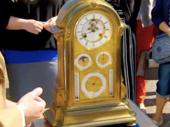 Wolf Rock clock shown on 'Antiques Roadshow'