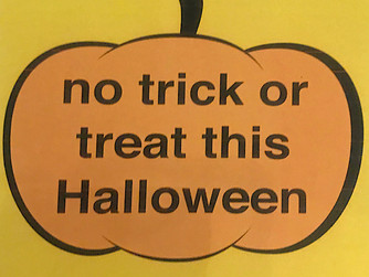 'No trick or treat' signs issued by police
