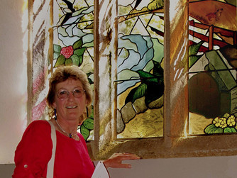 Stained glass window by Scilly artist blessed in Truro