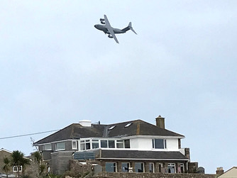 RAF plane over St Mary's was on training flight