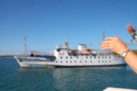 Sgt Colin Taylor leaves on Scillonian III