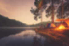 Blured image of camping and tent with hi
