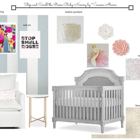 Soft Pinks and Greys Girl Nursery