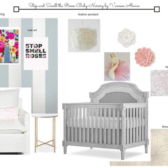 Soft Pinks and Greys Girl Nursery