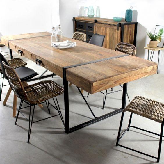 Table à manger acacia