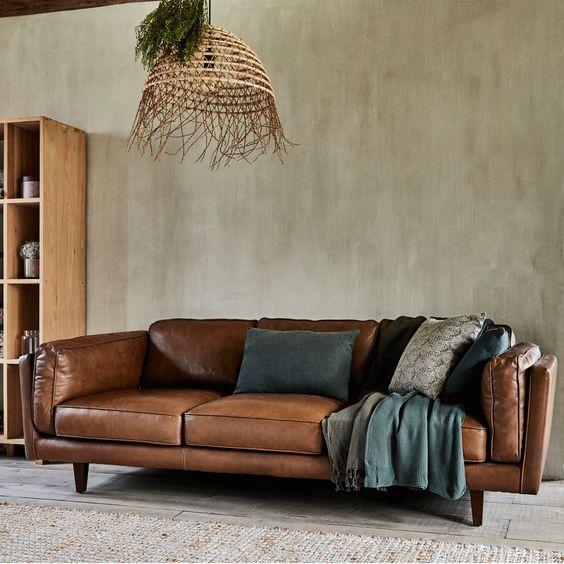 Canapé 3 places cuire