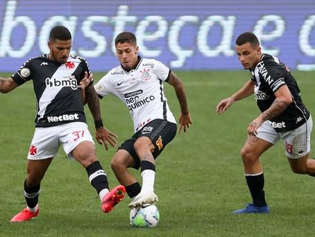 Corinthians empata em casa e praticamente rebaixa o Vasco