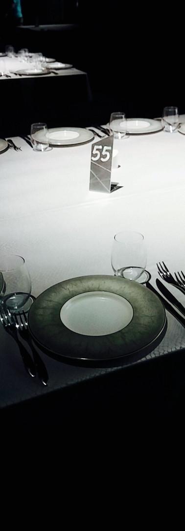 מספר שולחן למסעדה מאלומיניום