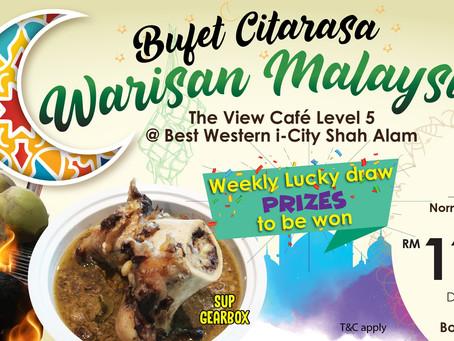 Citarasa Warisan Malaysia: A Taste of Tradition at Best Western i-City Shah Alam