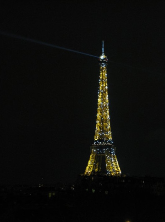 Falling asleep to the view of the Eiffel Tower