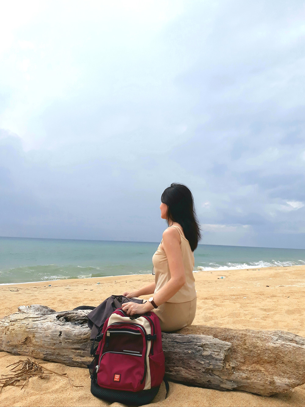 Enjoying the sea breeze in Dungun, Terengganu, Malaysia