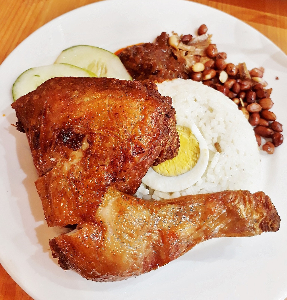 Kluang Station's Nasi Lemak with Fried Chicken
