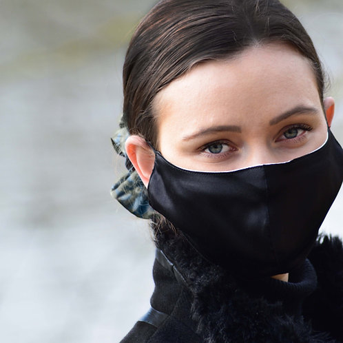 Raven - 100% Mulberry Silk Mask