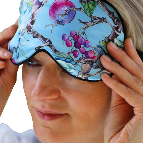 ... DORMI - SECRET GARDEN 100% silk sleep mask