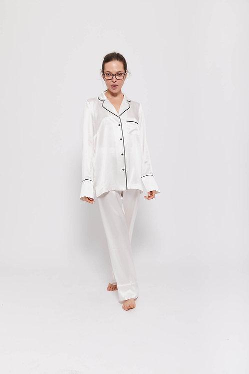MAYA - Champagne, 100% Mulberry Silk, Pyjama Set