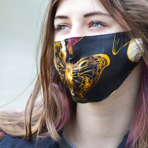 Monarch - 100% Mulberry Silk Mask