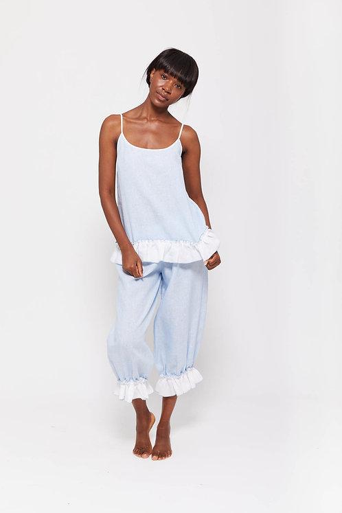 BOHEM - Fine Stripe / 100% Fine Irish Linen / Beach Pyjama Set