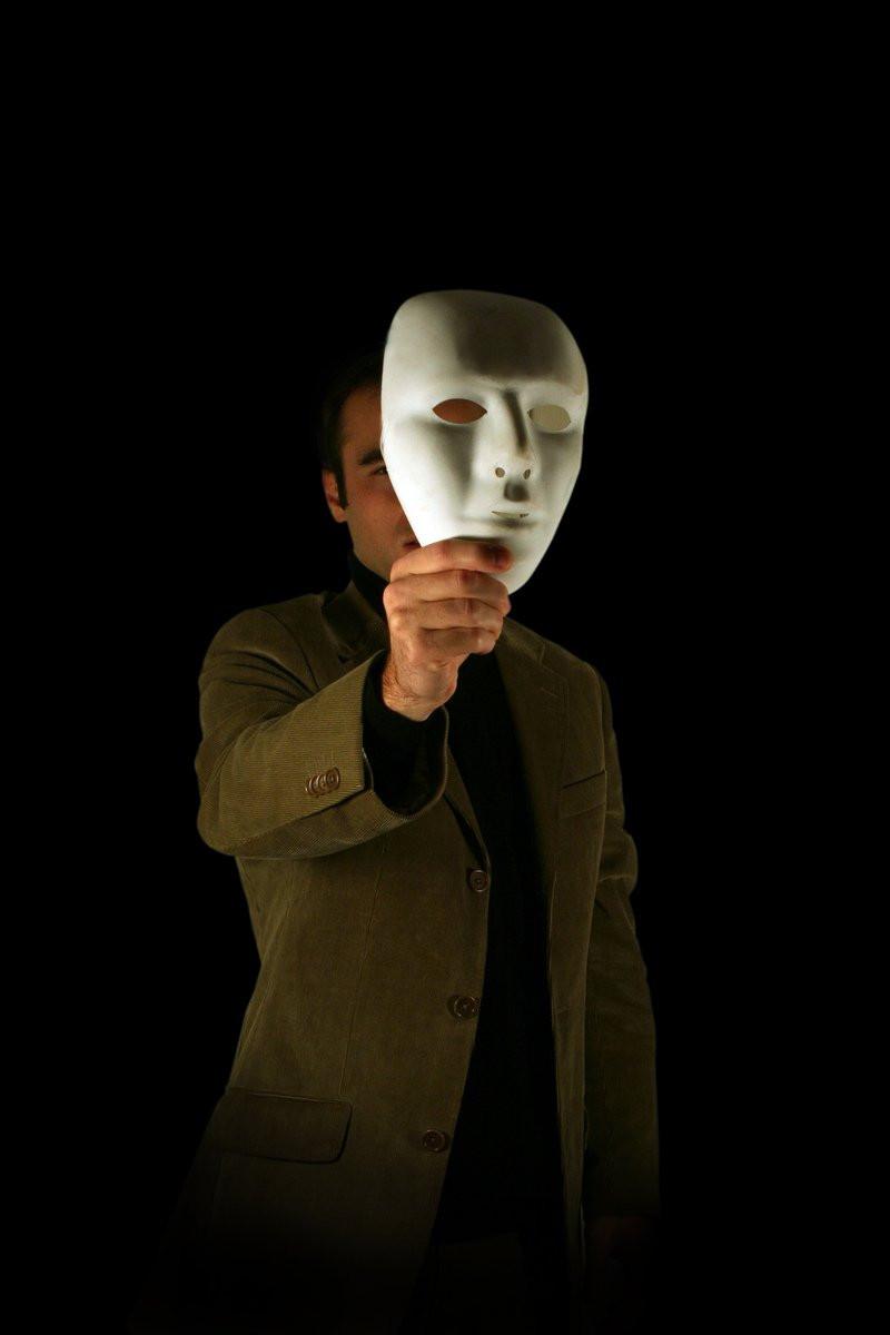 Hiding behind a mascarade mask