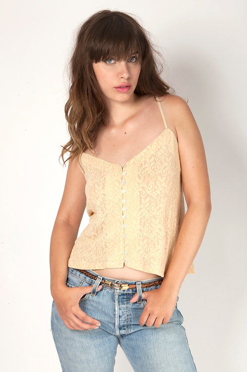 Deirdre cami in Blush lace