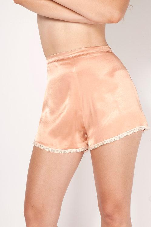 Pinup shorts in Rose satin