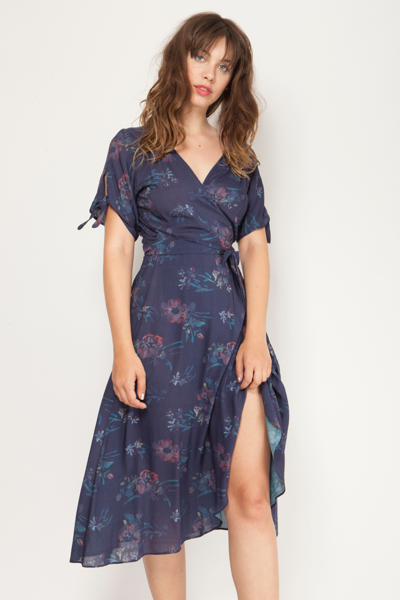 Long wrap dress
