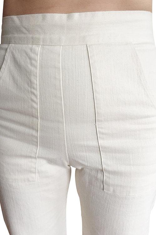 Hi waisted Ivory Jeans