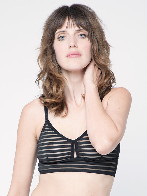 Classic bralet in Black shadow