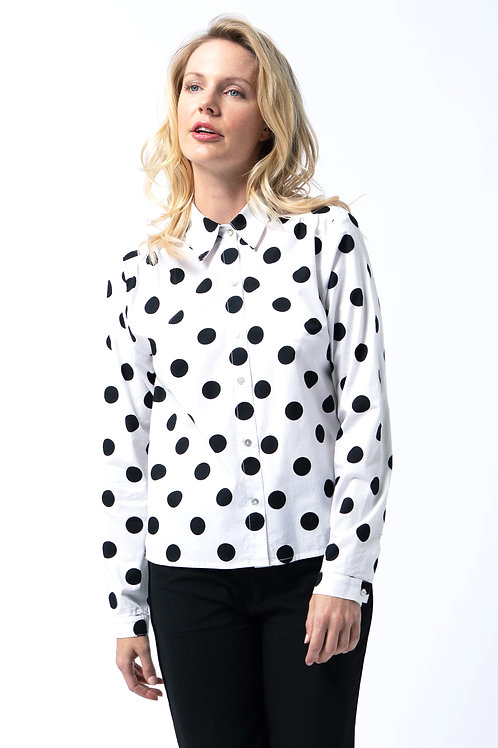 Candy button up in White