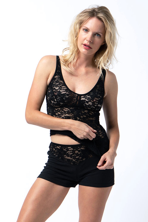 Lace cami in Black